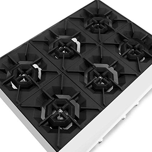 CookRite ATHP-36-6 Commercial Hot Plate Countertop Six Burner Natural Gas Range 36