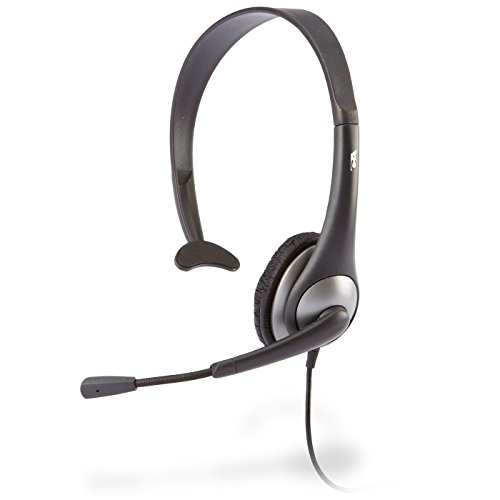 Cyber Acoustics Mono Headset, headphone with microphone, great for K12 School Classroom and Education (AC-104) - Mono / Stereo Headset