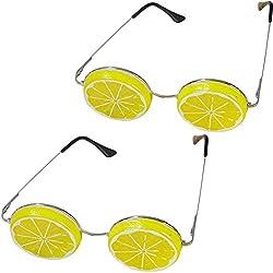 TINTON LIFE 2PCS Creative Unisex Lemon Shaped Eyeglasses Photography Props for Outdoor/Indoor Wedding Photography (2PCS Yellow Lemon)