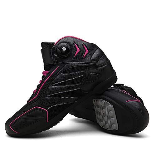 MRDEAR Motorradschuhe Damen & Herren mit Gangverstellung, Mikrofaser Motorrad Schuhe Motocross Stiefel Kurze Ankle Boot…