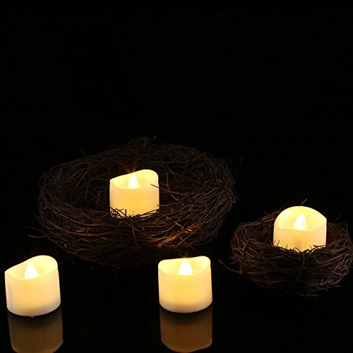 Homemory Battery Tea Lights With Timer, 6 Hours on and 18 Hours Off in 24 Hours Cycle Automatically, Pack of 12 Timing LED Candle Lights in Warm White by Homemory (Image #4)