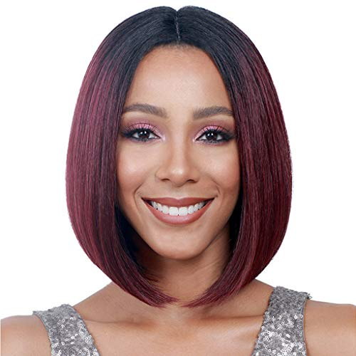 Willsa Fashion Charm Women Lady Gradient BoBo Short Straight Hair Cosplay Party Wig ()