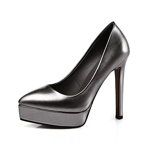 Balamasa Mujeres Platform Stiletto Low-cut Uppers Imitated Leather Pumps-Zapatos Metallic
