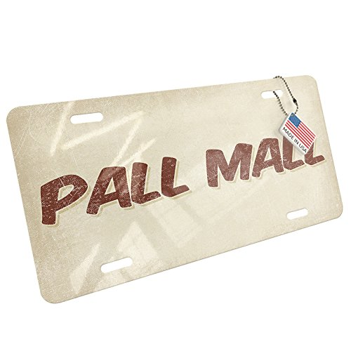 Metal License Plate Pall Mall Cocktail, Vintage style - - Of Mall Ga