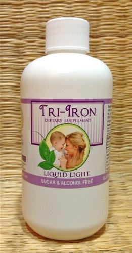Tri Iron (8 oz Bottle) - High in Iron Herbs. Iron Supplement Safe for Pregnancy, Kid Safe Iron Too. by TriLight Health