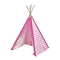 Heritage Kids Play Tent, Pink Dots and Chevrons