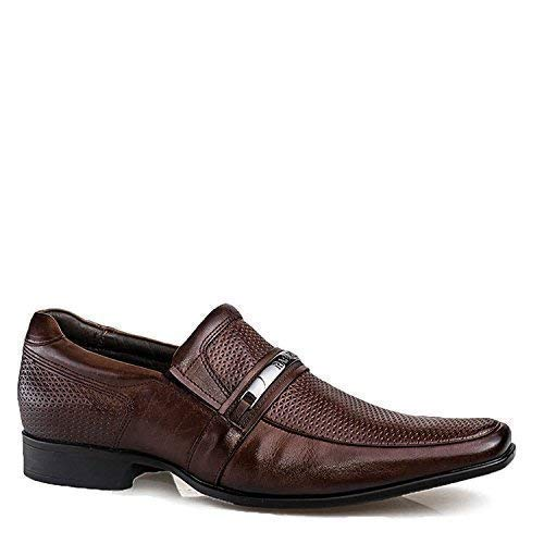 Shop Brunello's Comfort Business Dress Shoe in Mahogany Brown- Las Vegas Collection Made in Brazil 79274-01