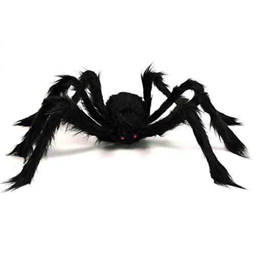 Easy Halloween Props - Halloween Simulation Plush Spider Horror Prop