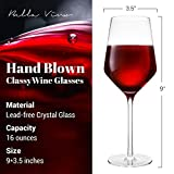 Bella Vino Italian Red Wine Glasses 15.5 Ounce