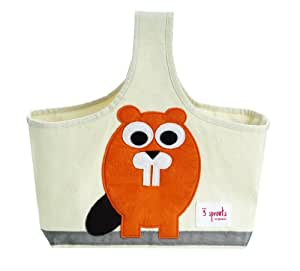 3 Sprouts Organic Caddy Tote Bag, Beaver (Discontinued by Manufacturer)
