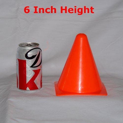 Workoutz 6'' Inch Orange Agility Sports Cone Safety Field Marker (Set of 12)