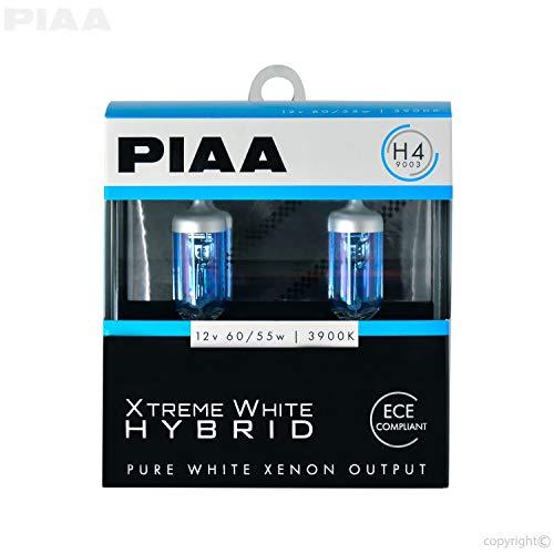 (PIAA 23-10104 H4 Xtreme White Hybrid Bulb, 3900K-12V 60/55W-Twin, 2 Pack)