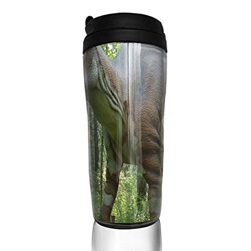 Coffee Mug Dinosaur Animals Travel Tumbler Insulated Leak Proof Drink Containers Holder Stylish 12 Ounces ()