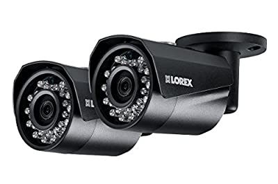 Lorex 4MP HD IP LNB4421W 2-Pack Bullet Camera with Color Night Vision by Lorex