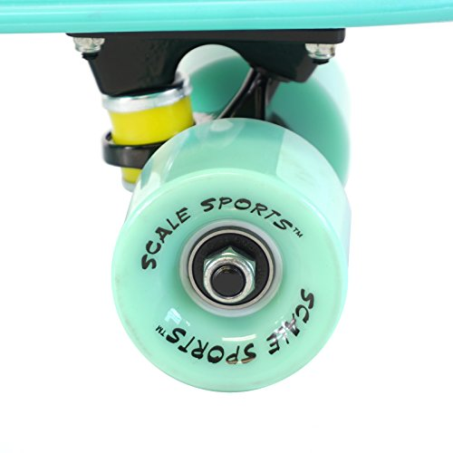 Scale Sports 22'' Skateboard Complete Pastel Street Retro Cruiser Classic Plastic Deck Mint by Scale Sports (Image #5)