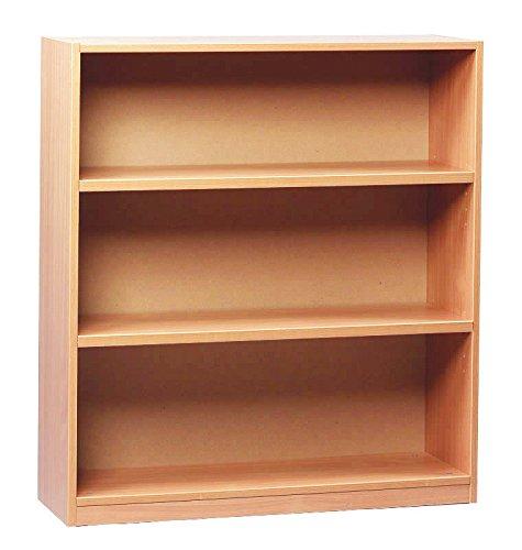 Monarch School 1000mm Open Bookcase 2 Shelves Beech MEQ1000BC Office Needs Direct