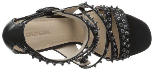 Diesel Kvinners Atom Blondie Rivette Kjole Sandal Svart