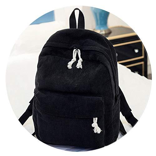 Soft Fabric Backpack Female Corduroy Design School Backpack for Teenage Girls Striped Backpack Women,1241B