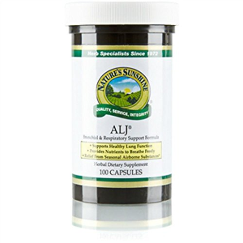 Naturessunshine ALJ Supports Healthy Lung Function Herbal Combination Supplement 100 Capsules (Pack of 4)