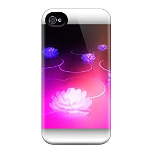 New Arrival Cover Case With Nice Design For Iphone 4/4s- Fractal Flowers