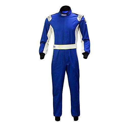 jxhracing C020FA One Layer Cotton Fire Protection Auto Go Kart Racing Suit-SFI - Suit Racing Blue