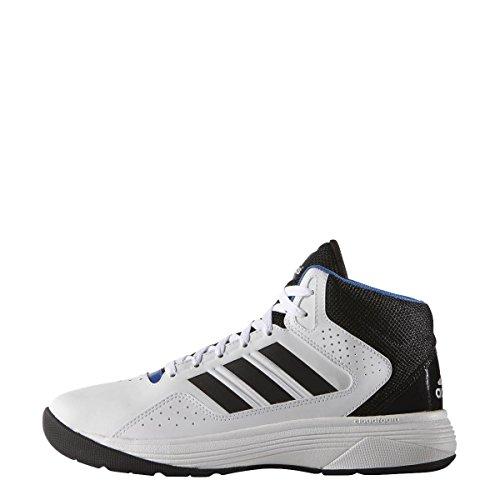 adidas Cloudfoam Ilation Mid, Chaussures de Basketball Homme, Blanc Cassé (Ftwbla/Negbas/Plamat), 48 EU