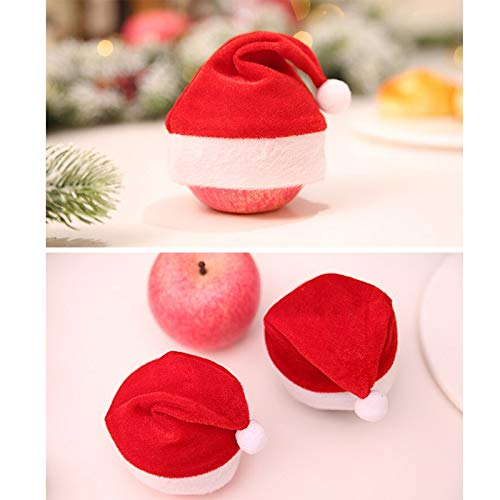 Ball Ornaments - Christmas Eve Apple Hat Red Cap Drink Bottle Decor Xmas Home Banquet Party Tableware Diy Kid - Glass Ball Tree Green Ornaments Christmas Shatterproof