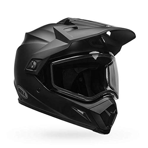 (Bell MX 9 Adventure Dual Shield Snow Helmet (Matte Black, Medium))
