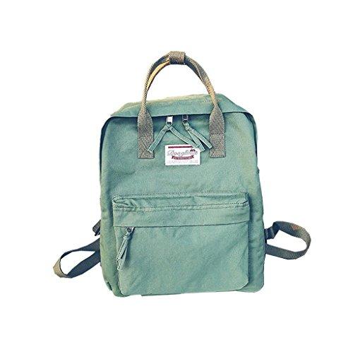 Mochila Linda almacenamiento grande, Holacha Bolso de mano Backpack 2 en 1 Elegante Retro para chicos chicas Verde