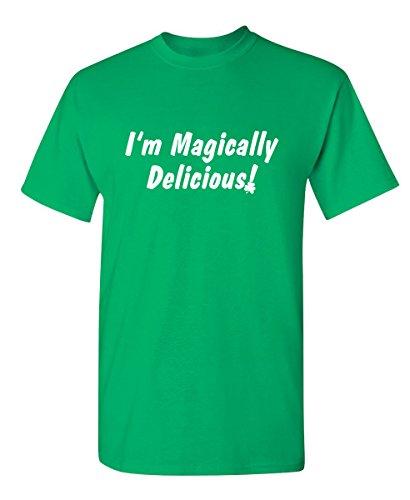 Magically Delicious St. Patrick's Day Saint Paddy Funny T Shirt M Irish Green -
