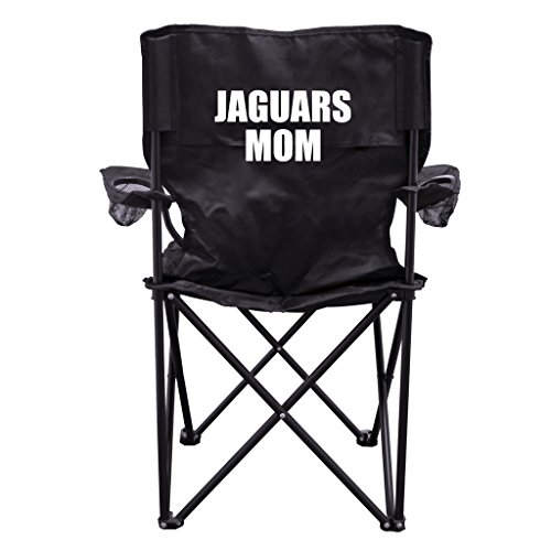 Jaguars Mom Black Folding Camping Chair with Carry Bag by VictoryStore