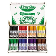** Washable Classpack Markers, Broad Point, Assorted, 200/Box
