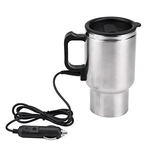 Electric Car Kettles Boiling Heat Cup Insulation Insulated Bottles 450ml 12V Stainless Steel Cigarette Lighter Plug by Aramox
