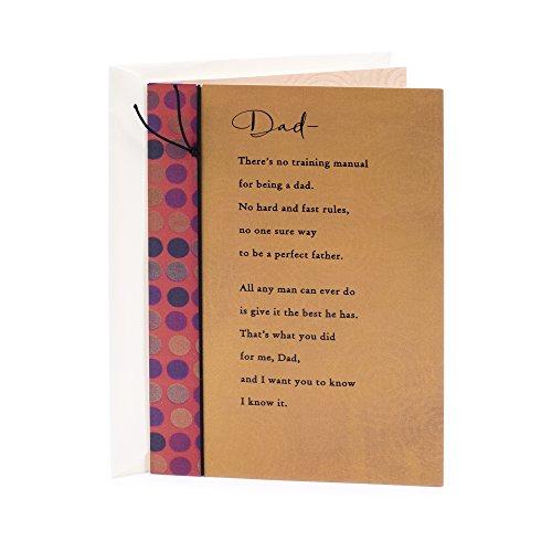Hallmark Birthday Greeting Card for Father (No Training Manual)