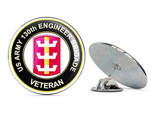 - U.S. Army 130th Engineer Brigade Veteran Metal 0.75