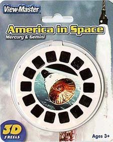 View-Master 3D 3-Reel Card America in Space Mercury & Gemini by View Master