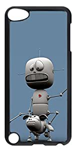 iPod Touch 5 Cases & Covers - Funny Robot Custom PC Soft Case Cover Protector for iPod Touch 5 - Transparent