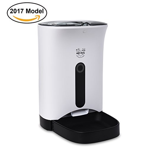Arf Pets Automatic Pet Feeder Food Dispenser for Dogs & Cats  Features Distribution Alarms, Portion Control & Voice Recording  Timer Programmable Up to 4 Meals a Day