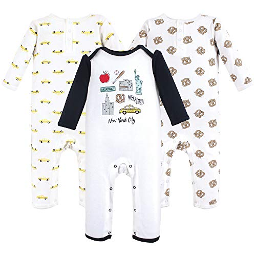 Hudson Baby Unisex Baby Cotton Coveralls, Nyc, 3-6 Months