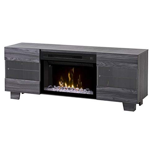 DIMPLEX Electric Fireplace, TV Stand, Media Console, Space Heater and Entertainment Center with Glass Ember Bed Set in Carbon Finish - Max #GDS25GD-1651CW