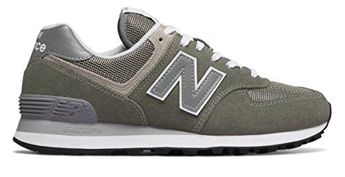 達成する竜巻ピッチャー(ニューバランス) New Balance 靴?シューズ レディースライフスタイル 574 Grey with White グレー ホワイト US 10 (27cm)