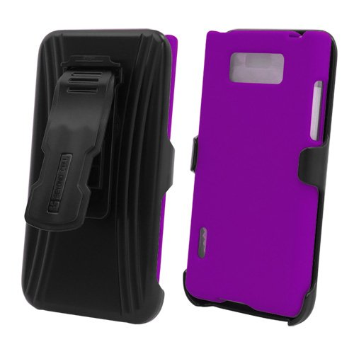 Beyond CB31 Hard Cover Case Combo Clip Holster for LG Splendor / Venice (LS730/US730) - Non-Retail Packaging - Purple