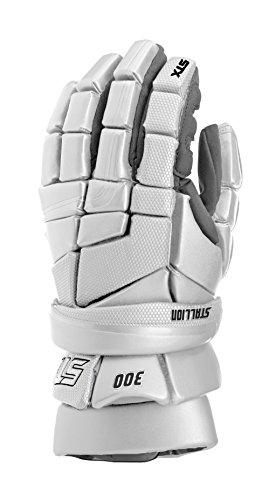 STX Lacrosse Stallion 300 Gloves, White, 12'