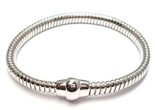 Bracelet Femme Argent 925rhodié tube gaz sans fermeture mode Idée cadeau