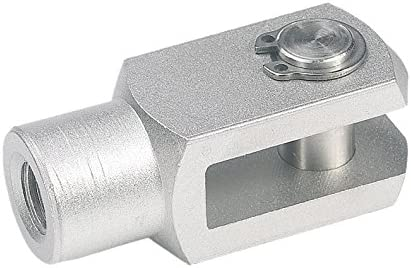M20 x 2.5 Thread J.W Stainless Steel 40 mm Length from Pin 20 mm Hole Diameter Winco 20NXZG//CP GN751-NI Fork Head with Circlip