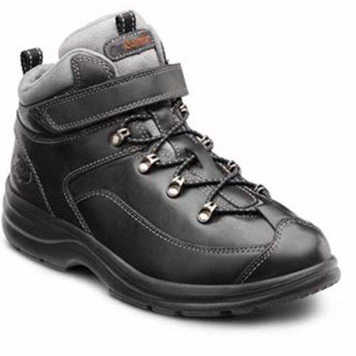 Dr. Comfort Vigor Mujeres Therapeutic Diabetic Extra Profundidad Hiking Bota Leather Lace Black