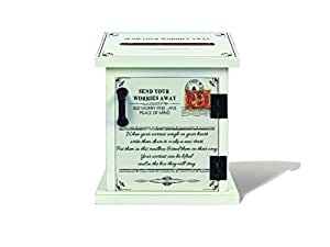 Young's Wood Mail Your Worry Mailbox, 5.5-Inch x 6.5-Inch x 3.5-Inch