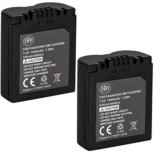 BM Premium Pack of 2 CGA-S006 Batteries for Panasonic Lumix DMC-FZ7, DMC-FZ8, DMC-FZ18, DMC-FZ28, DMC-FZ30, DMC-FZ35, DMC-FZ38, DMC-FZ50 Digital Camera