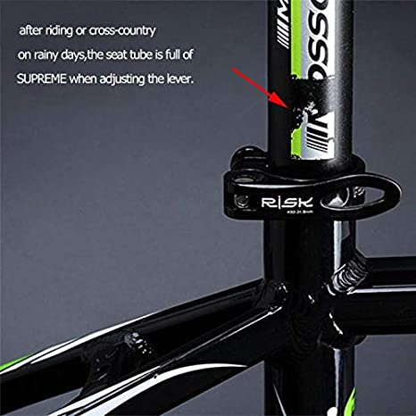 2PCS Mountain Bike Seat Post Rubber Ring Dust Cover Seatpost Case Protective
