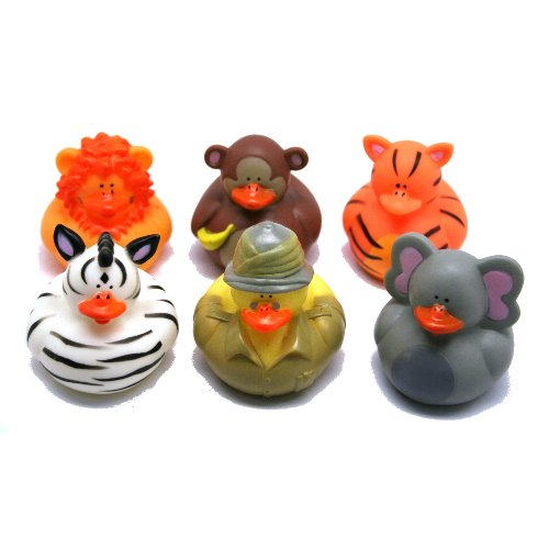 Fun Express Safari-Zoo Rubber Duckies - 12 Pieces